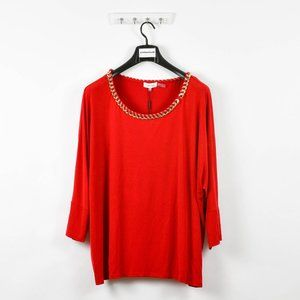 Calvin Klein Women's Chain Neck Dolman Wing Blouse
